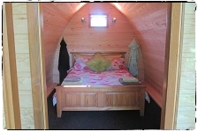 Double Bed in Family Pod.