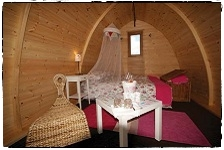 Glamorous camping in our largest Pod 'Ullmhór' - Beirnes of Battlebridge, Co.Leitrim.