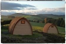 Family Pods, Ecocamp, Glenshee, Perthshire.